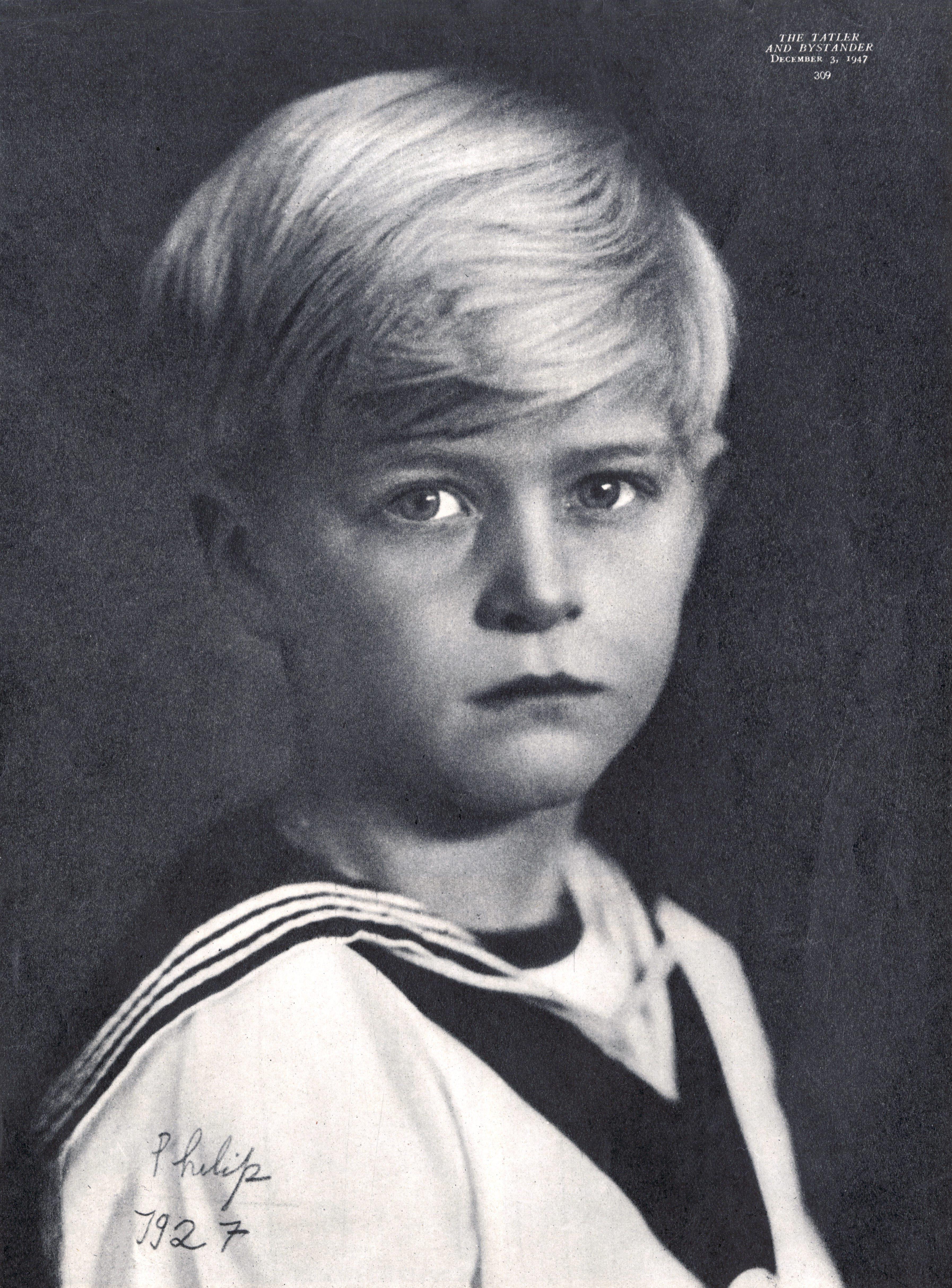 Prinz Philip als Kind