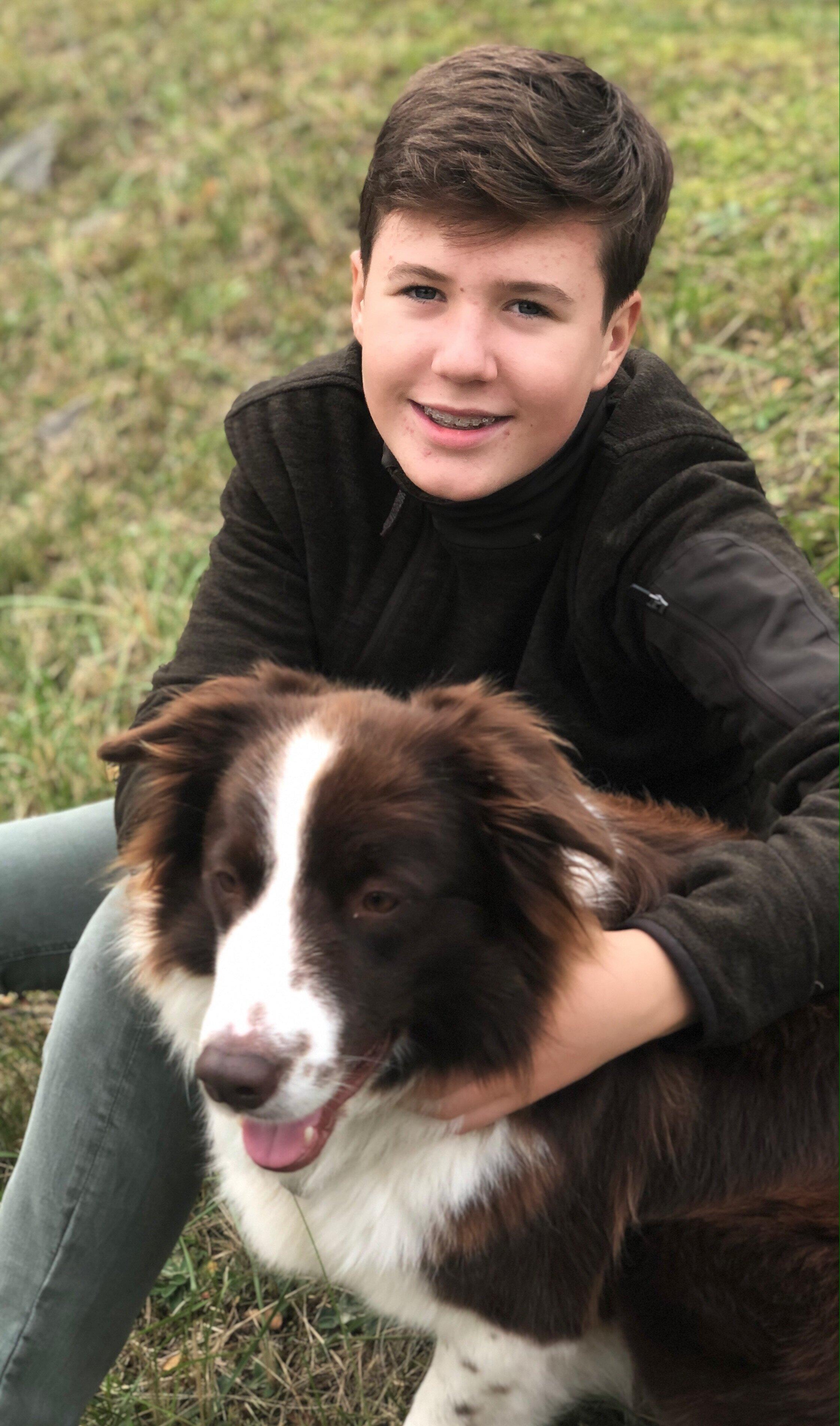 Prinz Christian mit Hund Grace