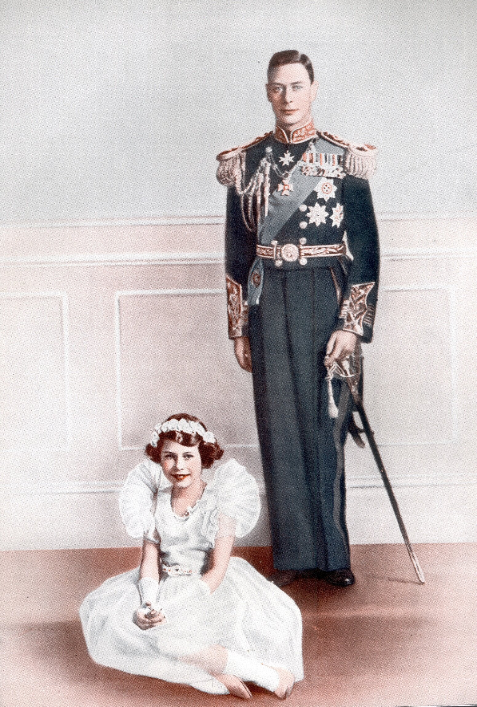 Queen Elizabeth mit ihrem Vater
