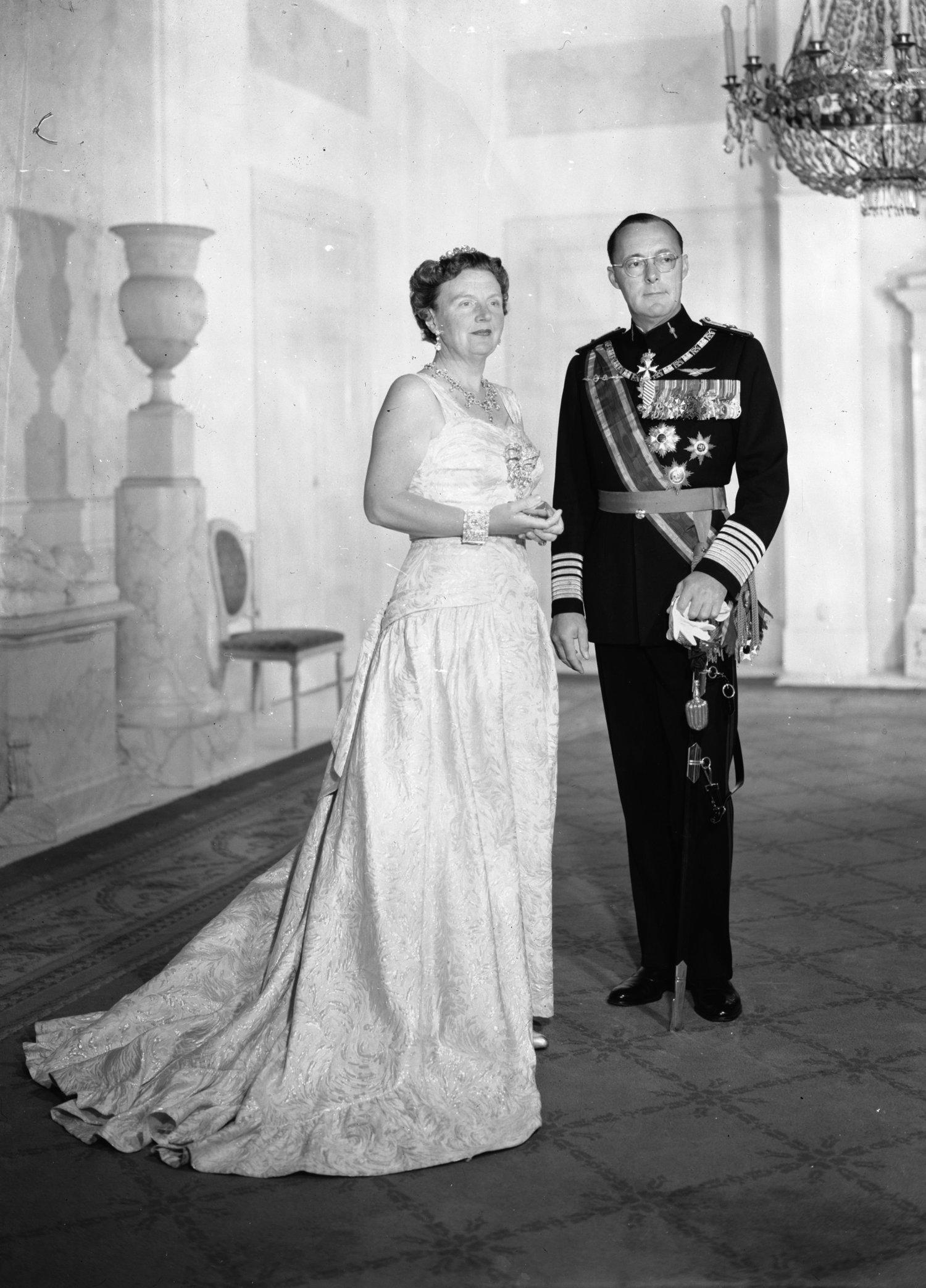 Königin Juliana und Prinz Bernhard