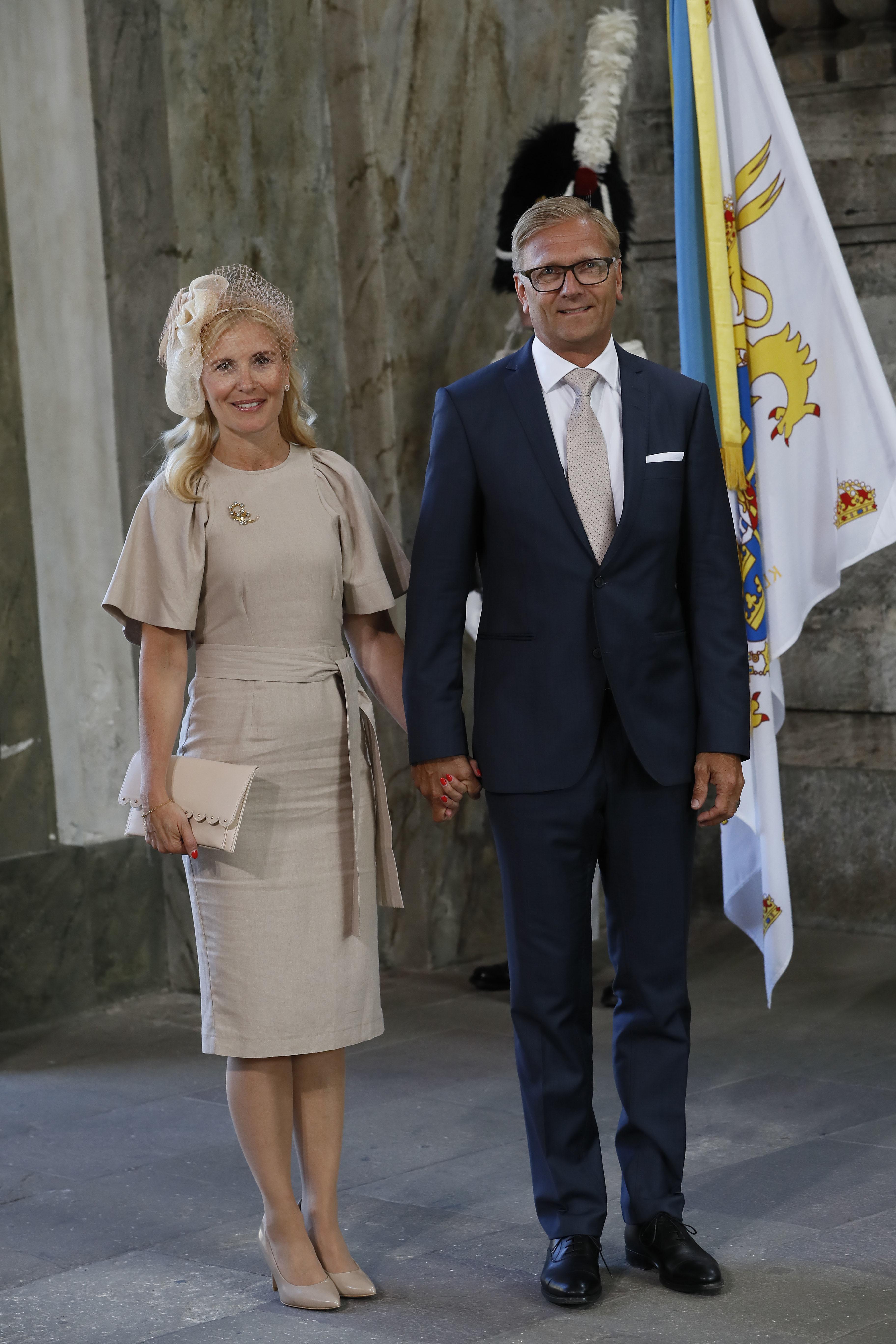Anna Westling Söderström und Mikael Söderström waren auch beim Gottesdienst zu Victorias 40. Geburtstag eingeladen.