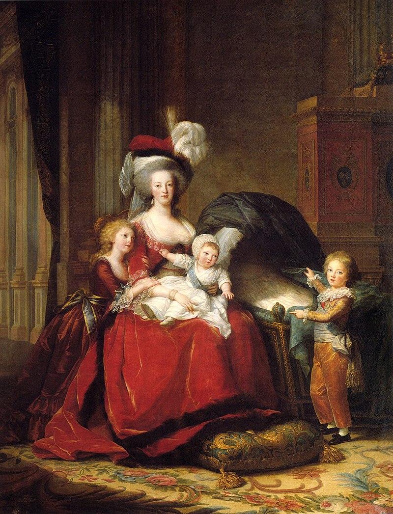 Marie-Antoinette mit ihren Kindern