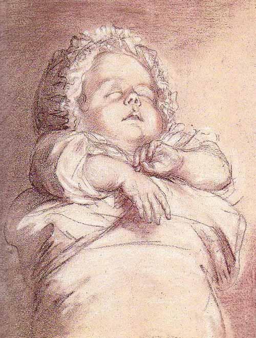 Tochter von Marie-Antoinette als Baby