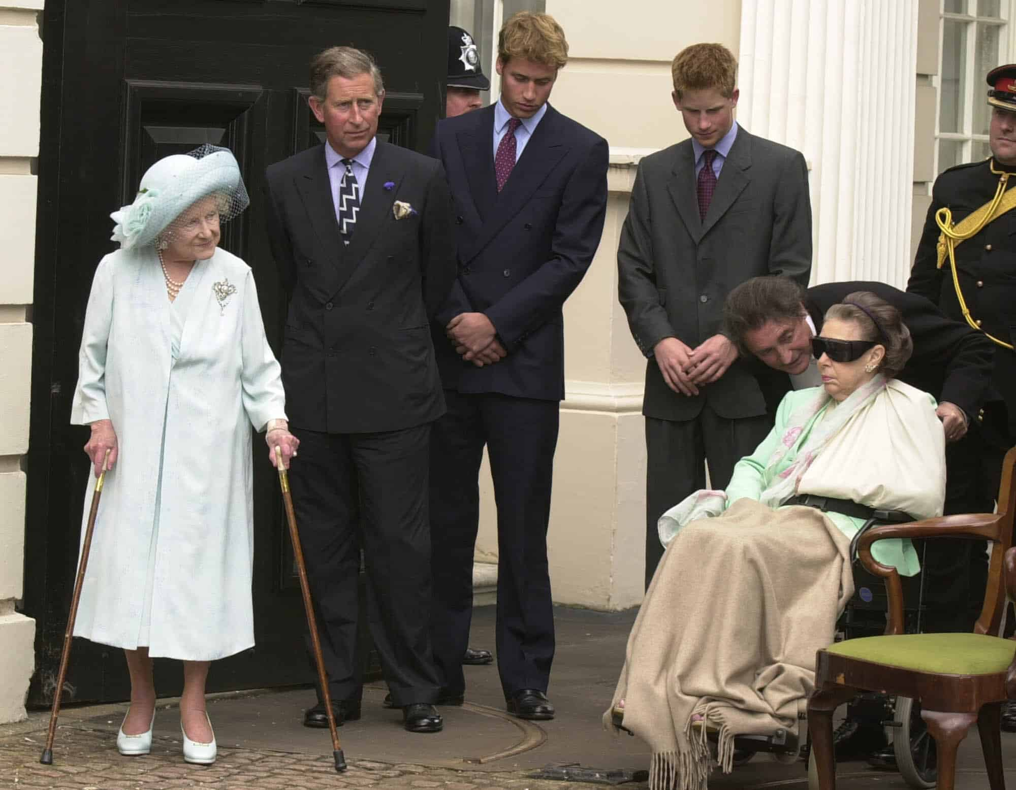Prinzessin Margaret im Rollstuhl