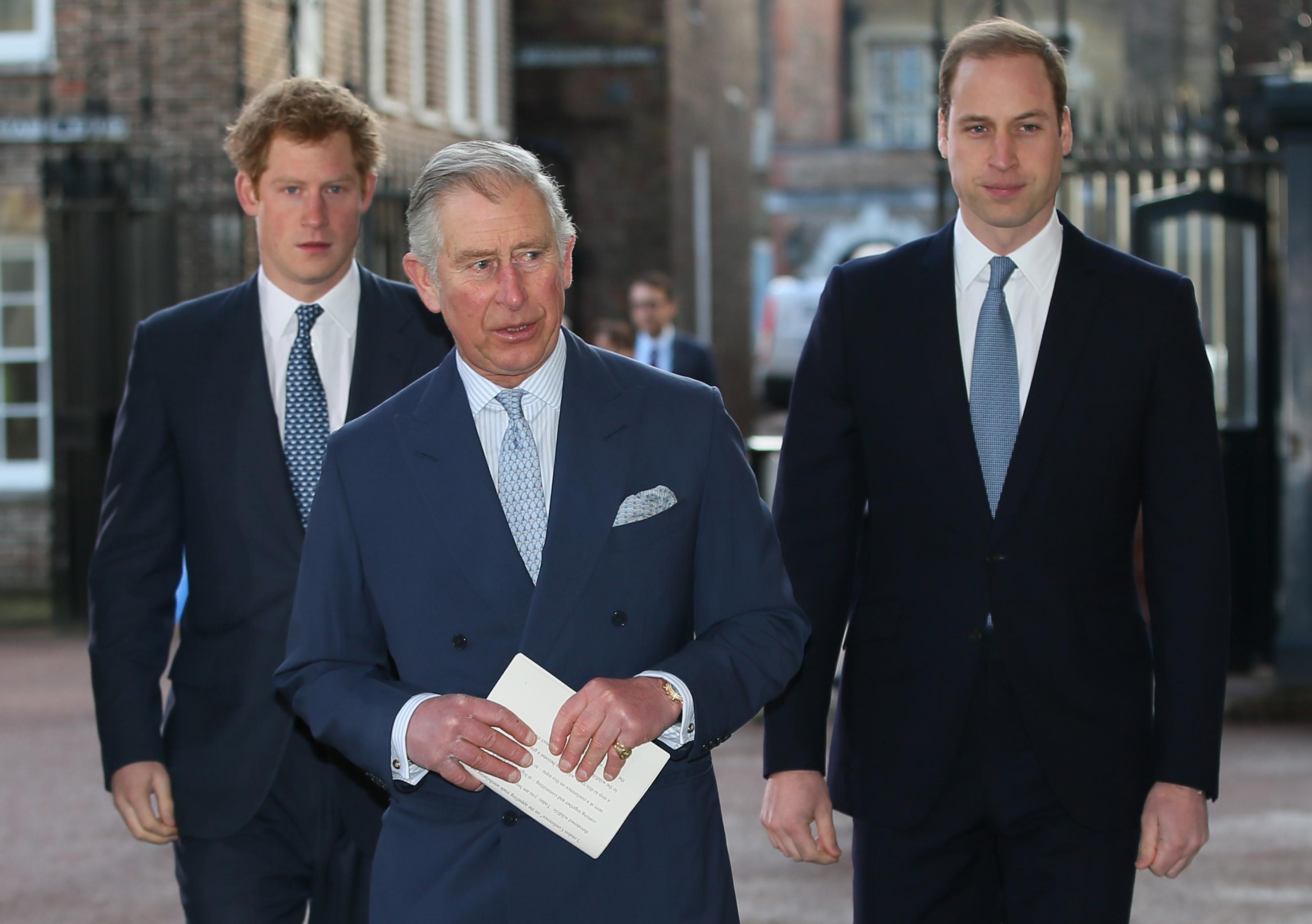 Prinz Harry, Prinz Charles und Prinz William