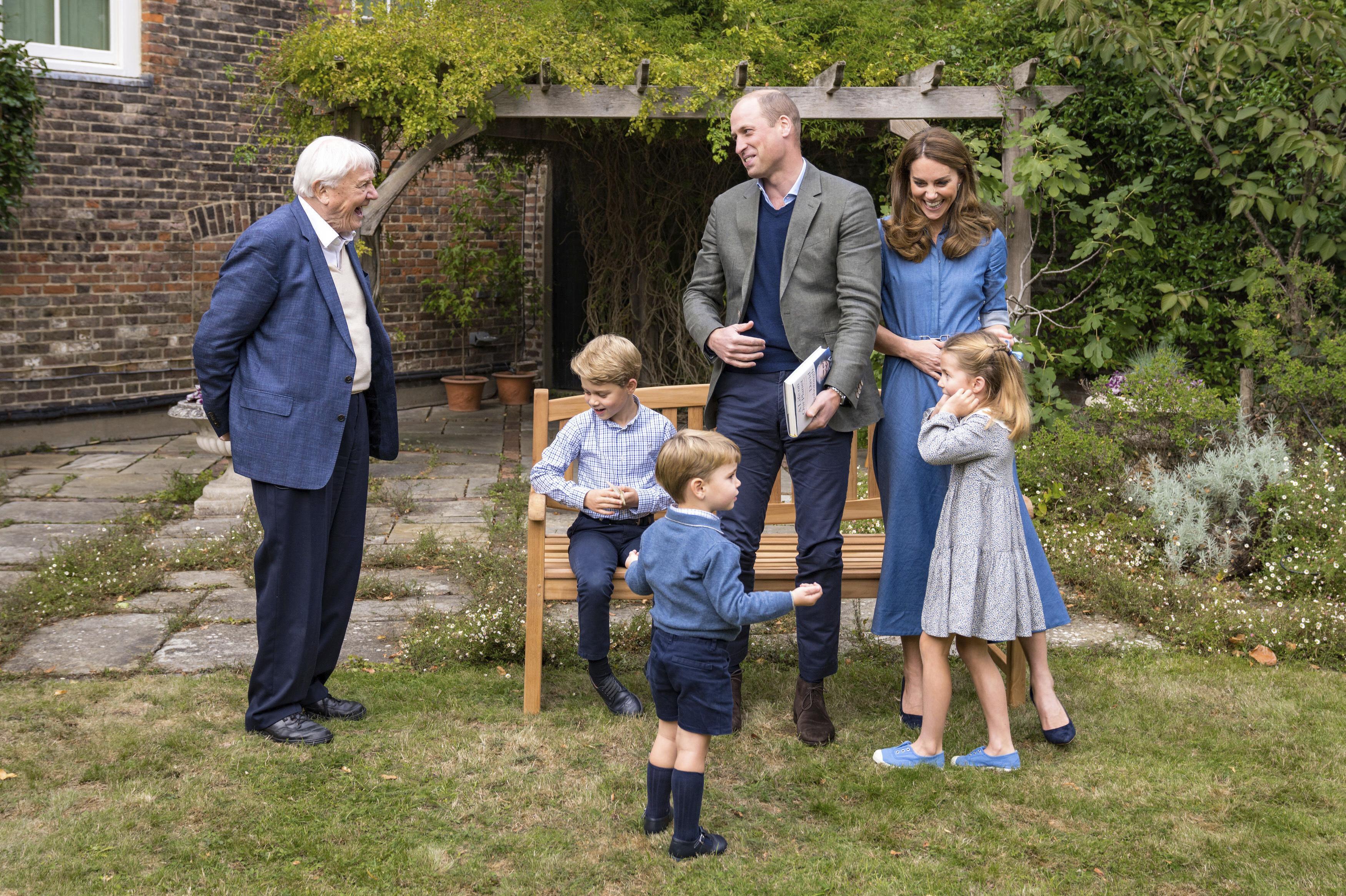 David Attenborough, Prinz George, Prinz Louis, Prinz William, Herzogin Kate, Prinzessin Charlotte