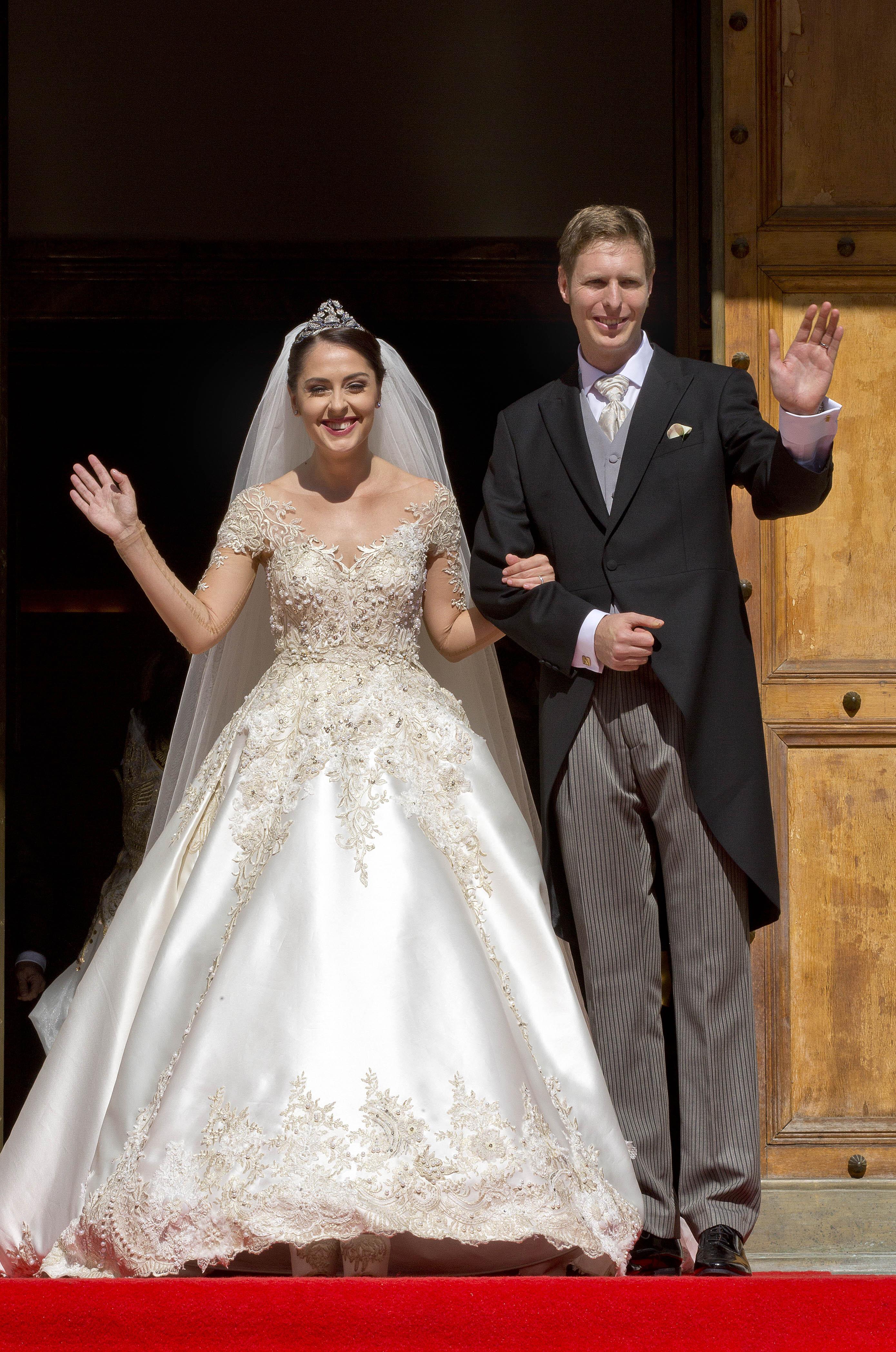 Prinzessin Elia und Prinz Leka bei ihrer Hochzeit