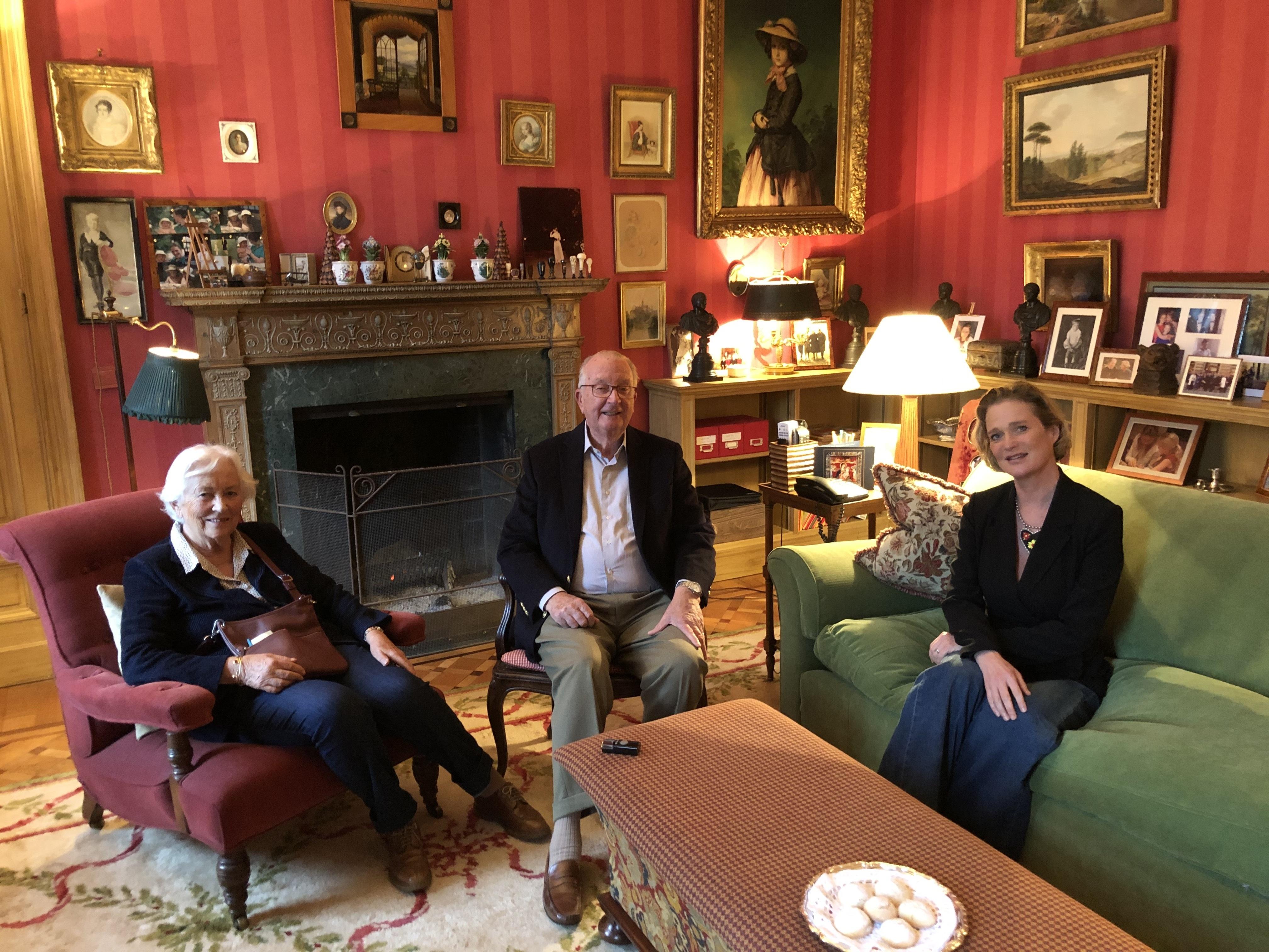 Paola, Albert und Delphine von Belgien