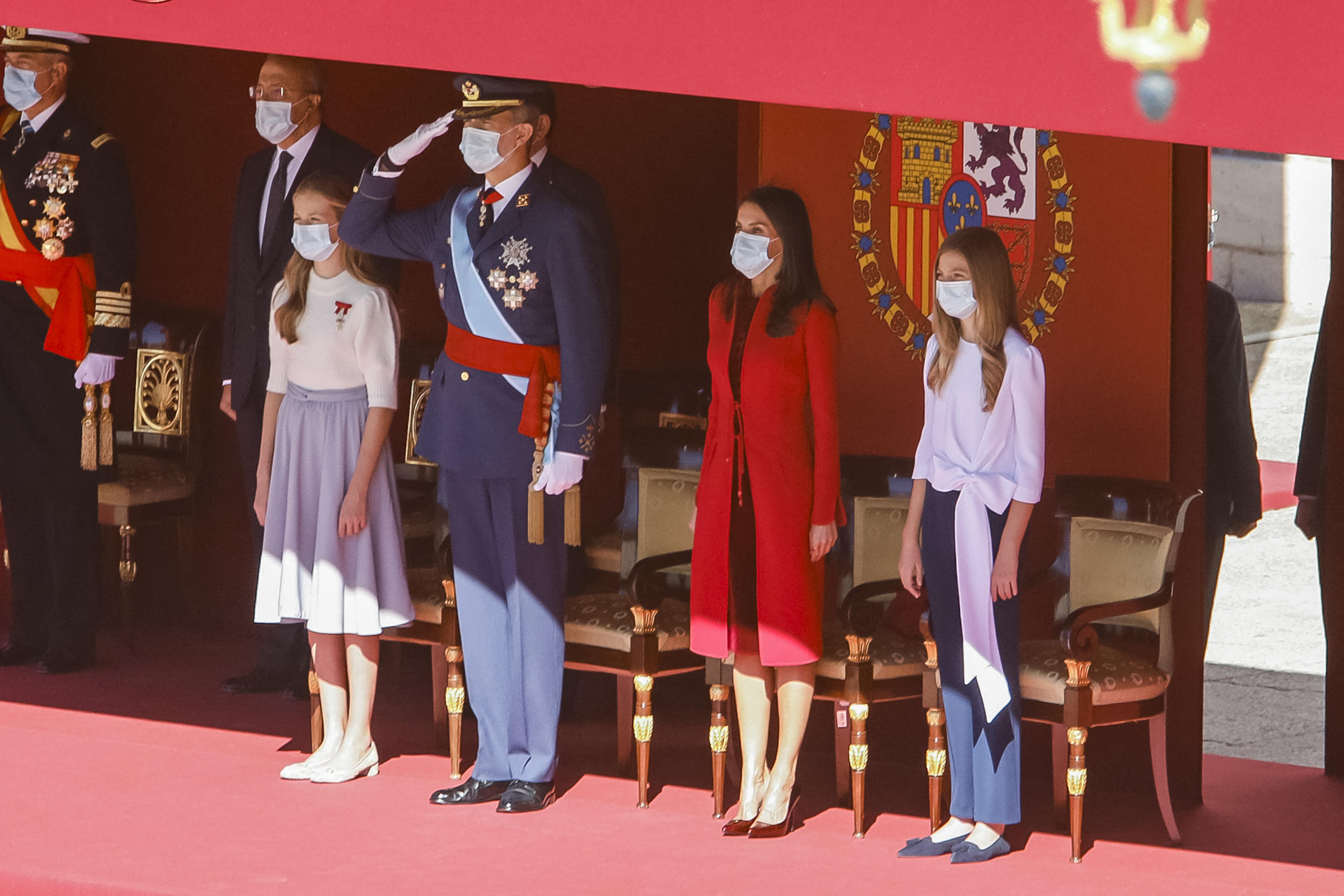 König Felipe, Königin Letizia und die Töchter Leonor und Sofia