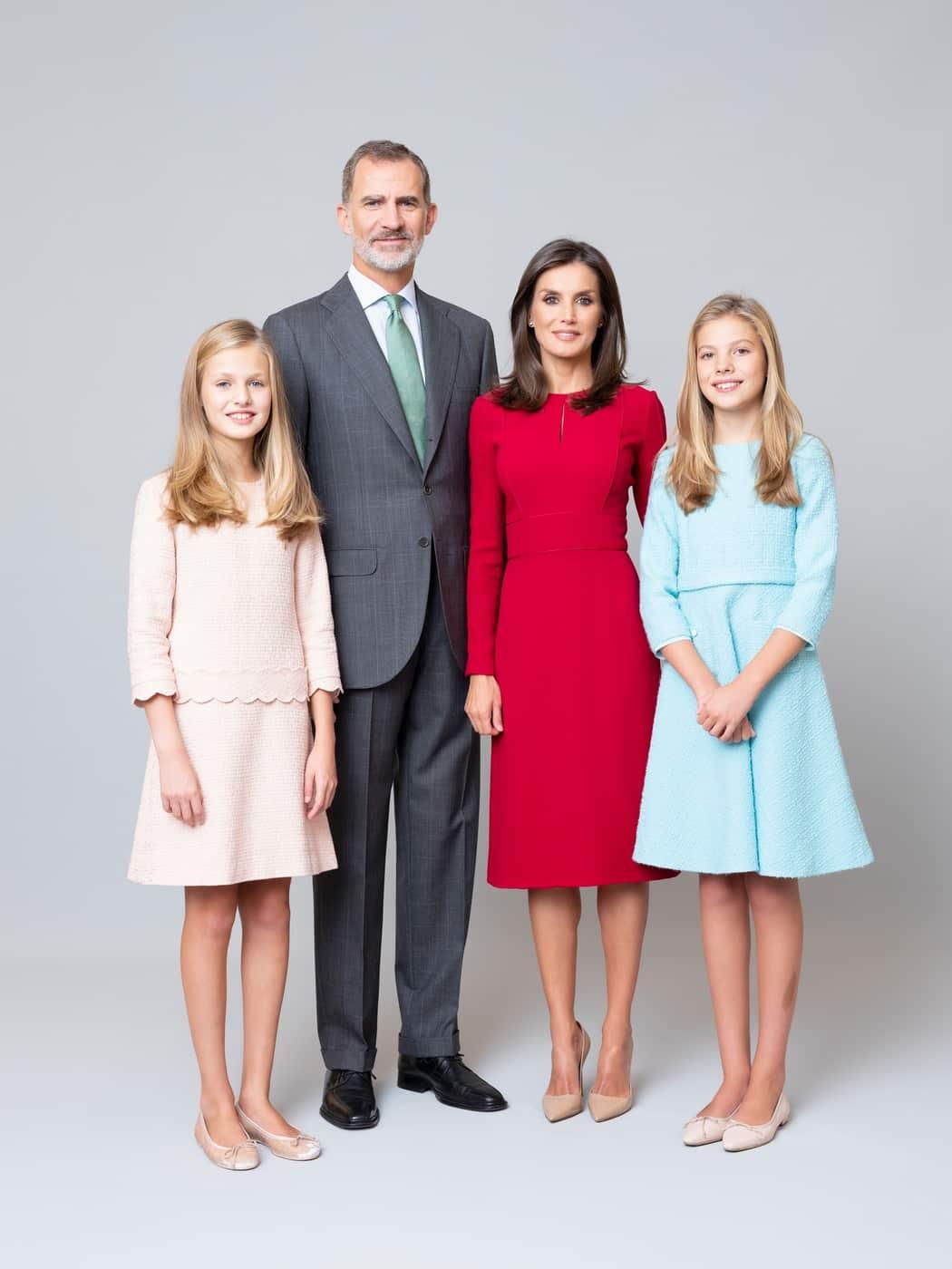 Prinzessin Leonor, König Felipe, Königin Letizia und Prinzessin Sofia von Spanien