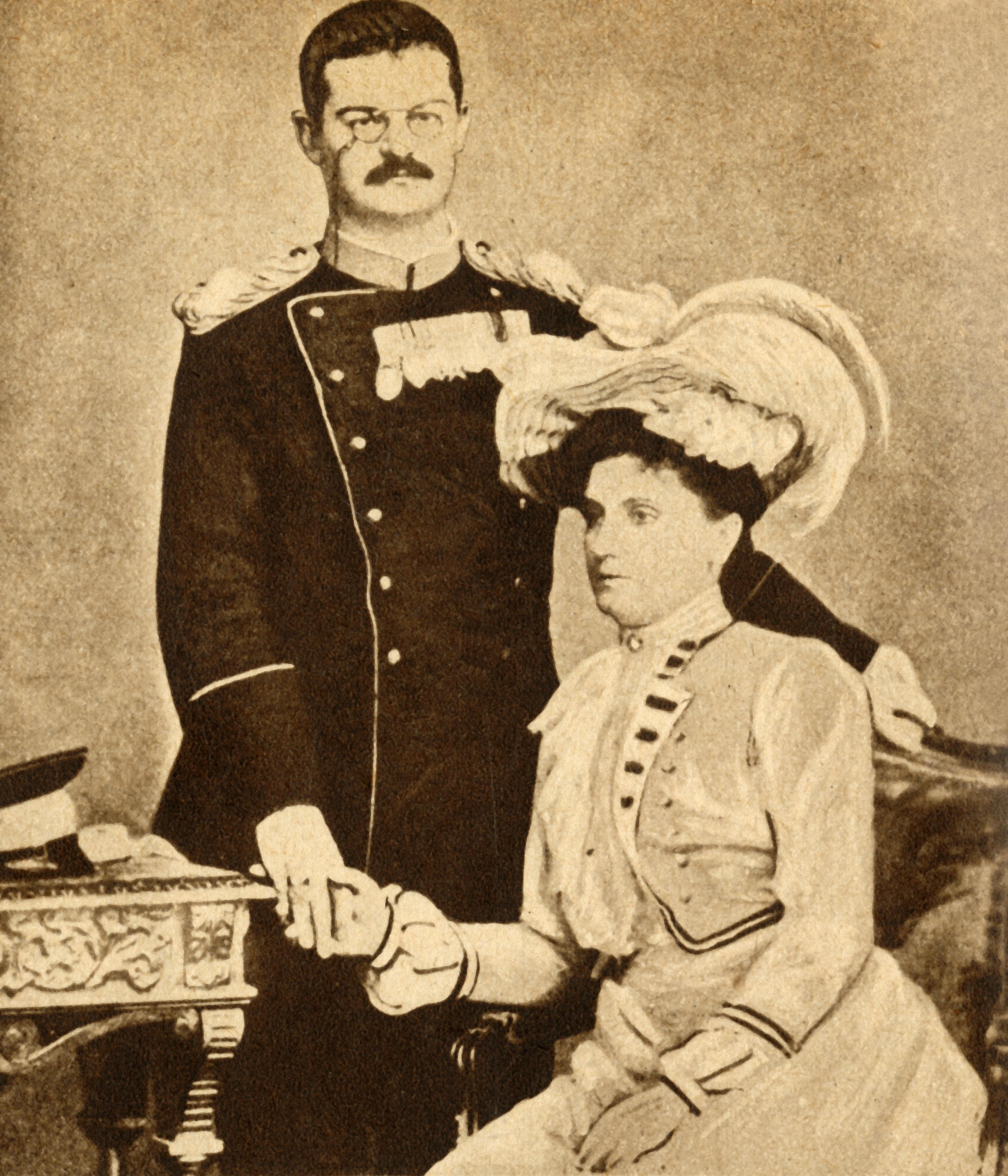 Alexander und Draga von Serbien