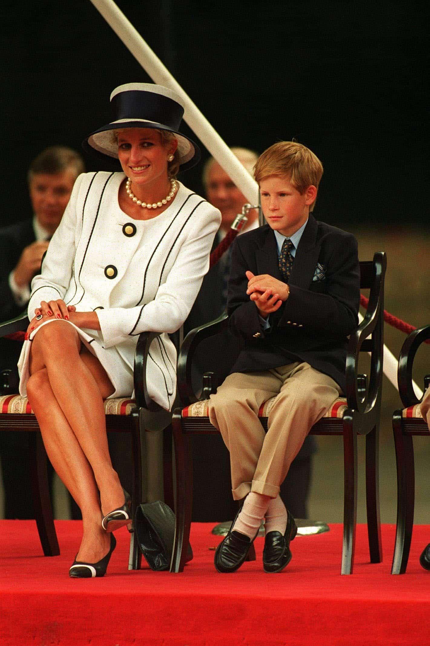 Prinzessin Diana und Prinz Harry