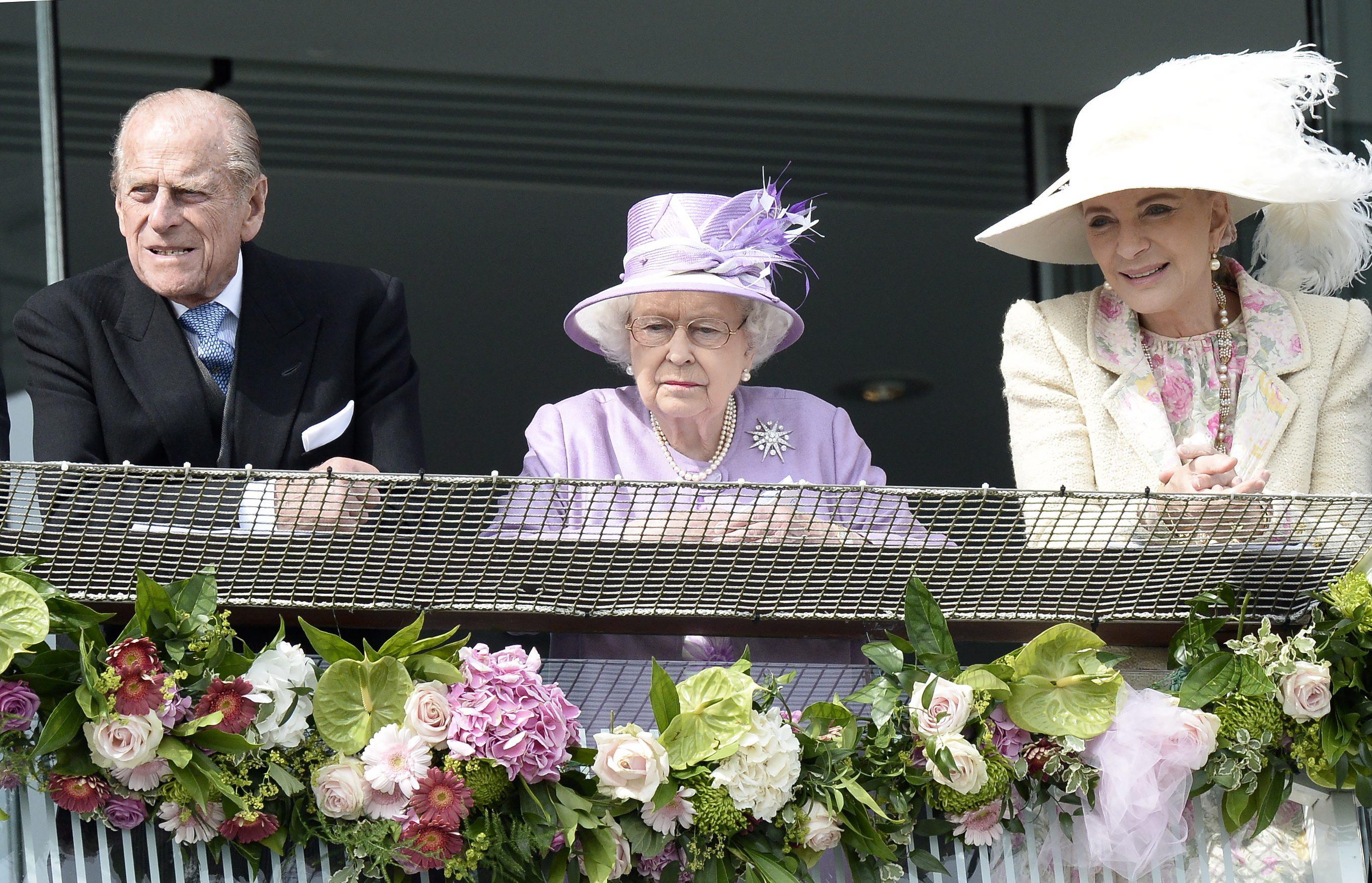 Prinz Philip, Queen Elizabeth und Prinzessin Michael of Kent