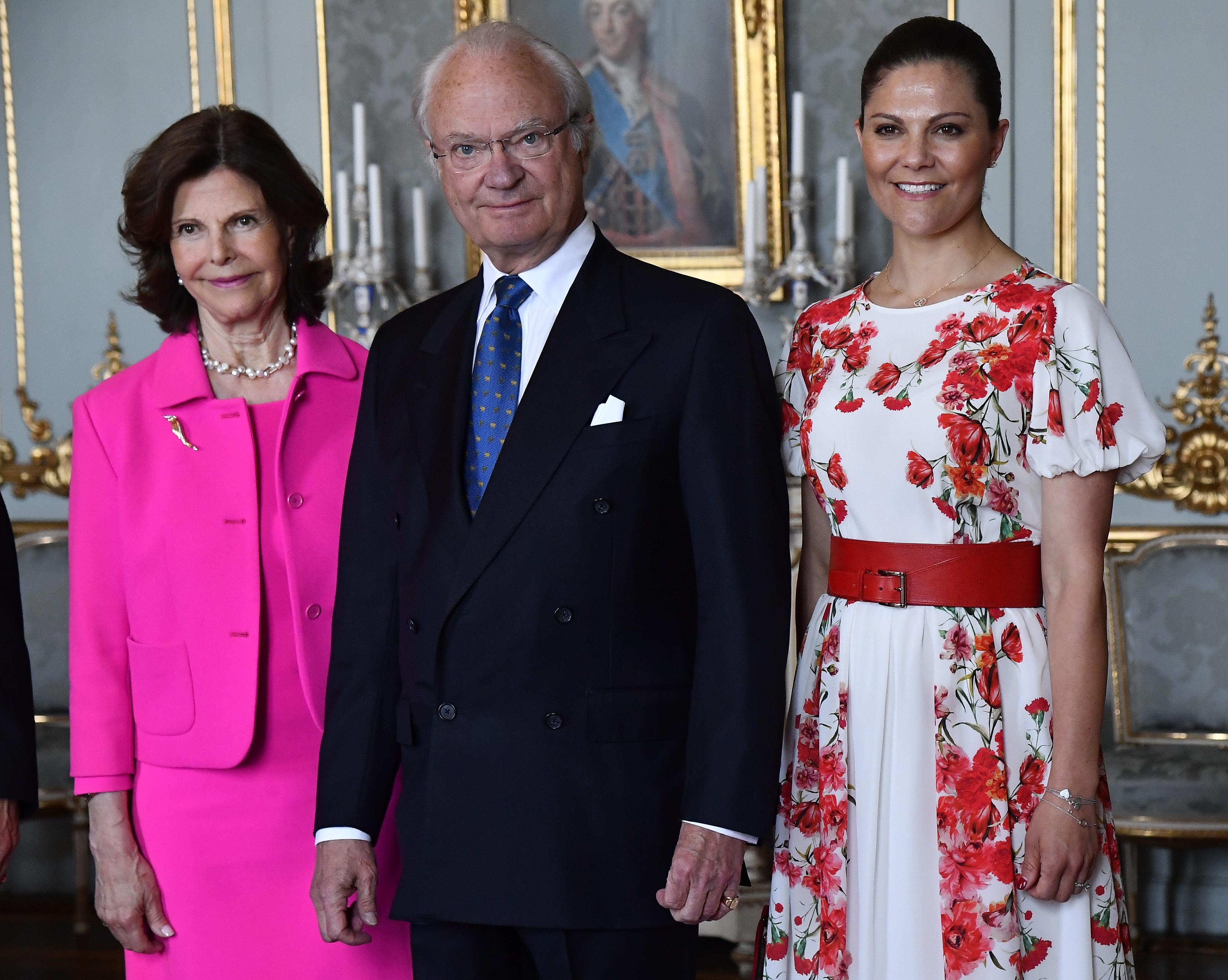 Königin Silvia, König Carl Gustaf, Kronprinzessin Victoria