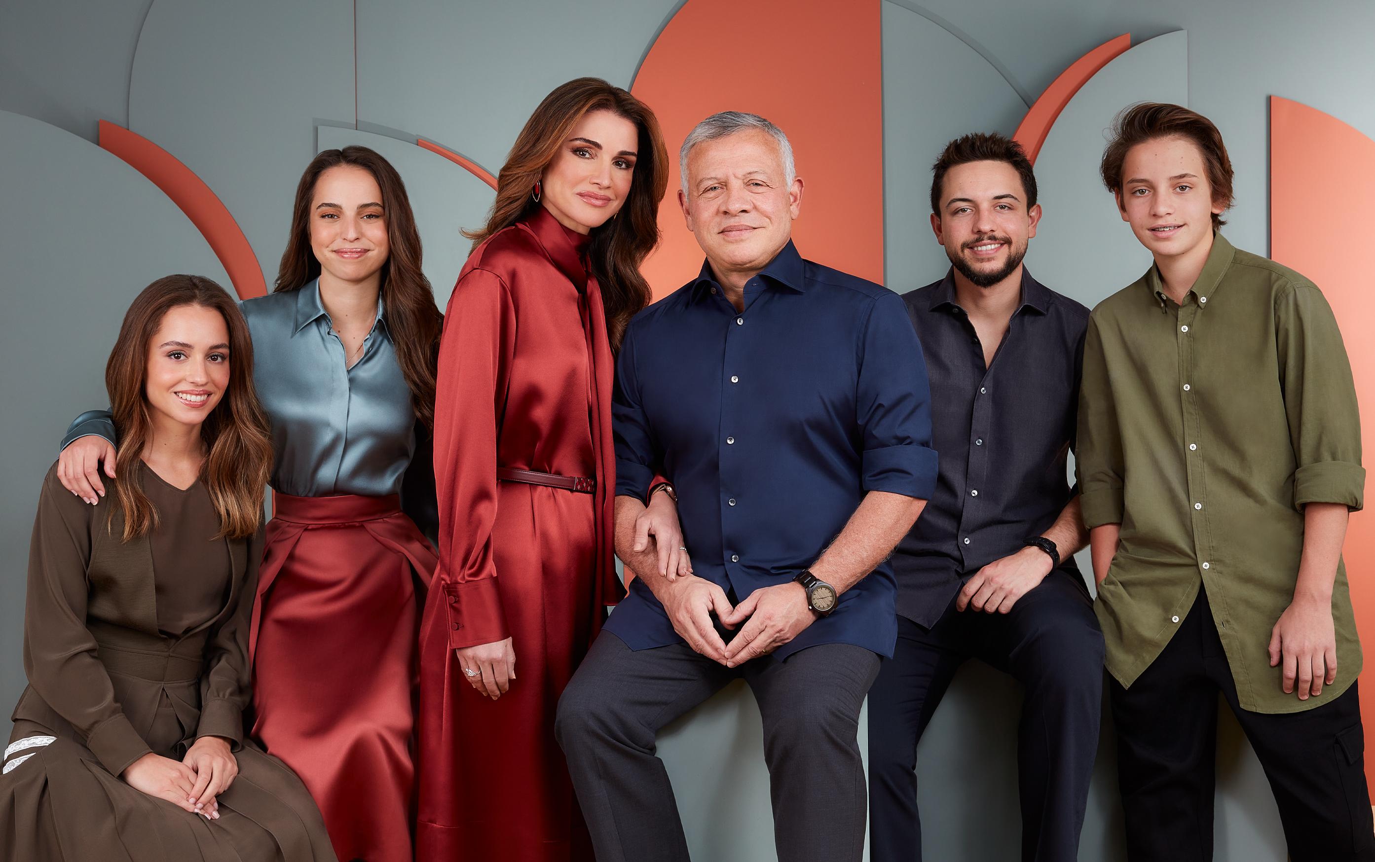 Königin Rania und Familie