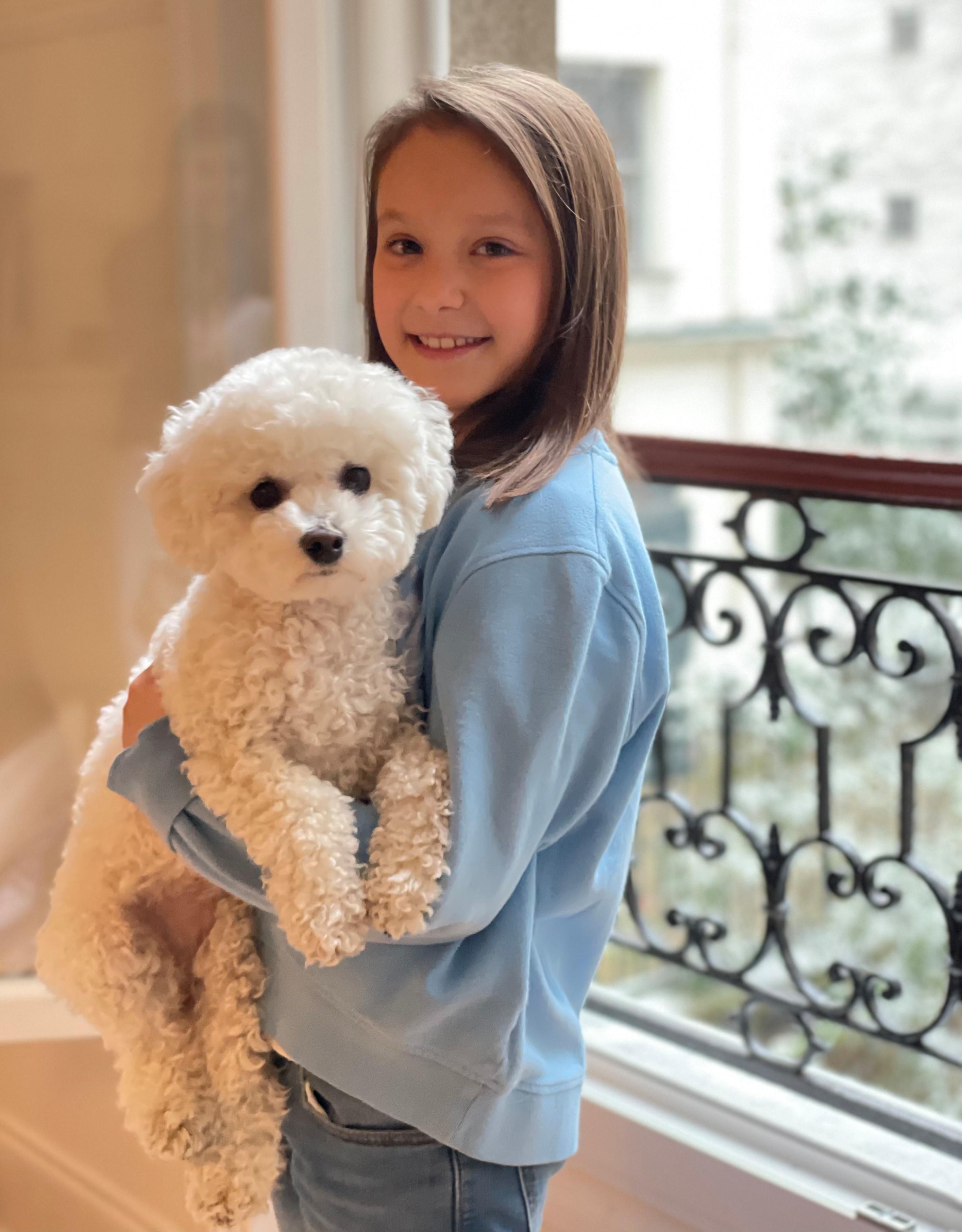 Athena von Dänemark mit Hund Cerise