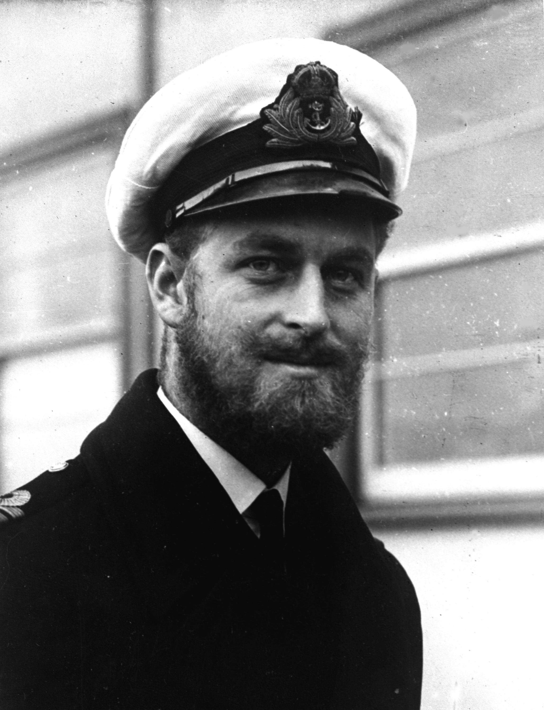 Prinz Philip als junger Offizier