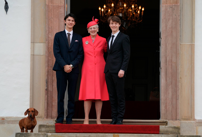 Prinz Nikolai, Königin Margrethe und Prinz Felix