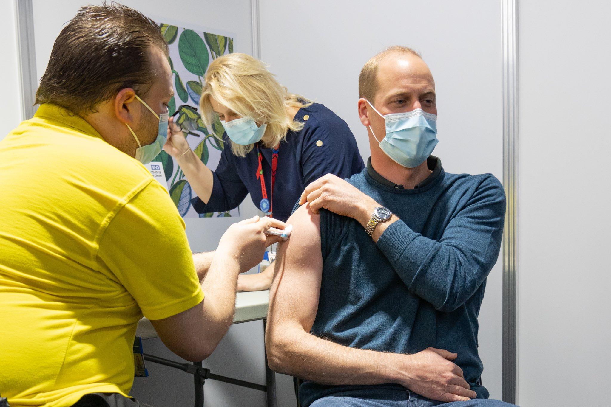 Prinz William wird geimpft