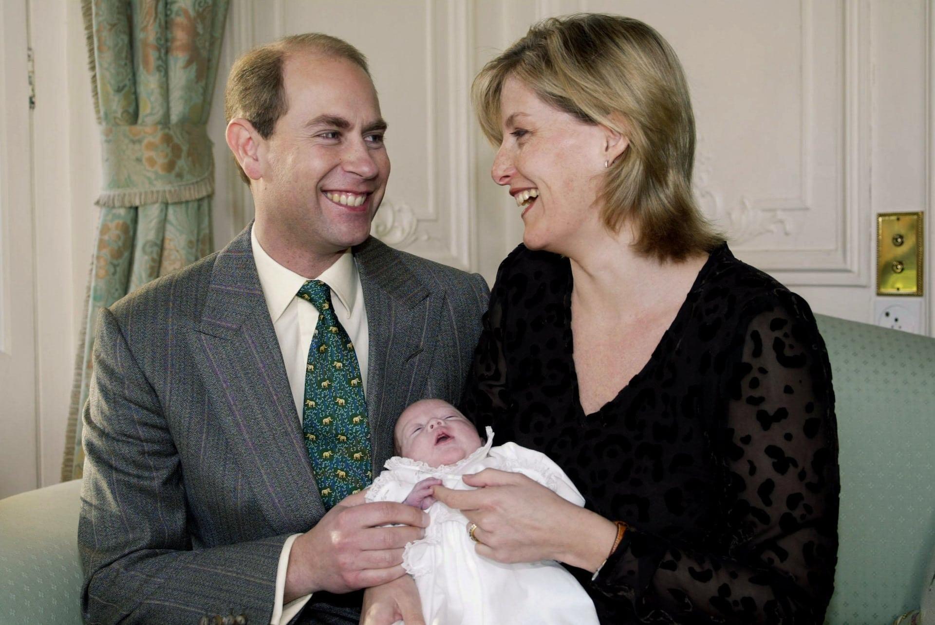 Prinz Edward und Gräfin Sophie mit Louise