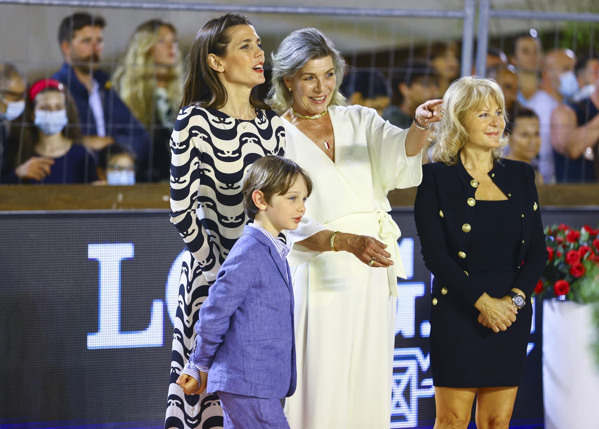 Prinzessin Caroline, Charlotte Casiraghi und Raphaël.