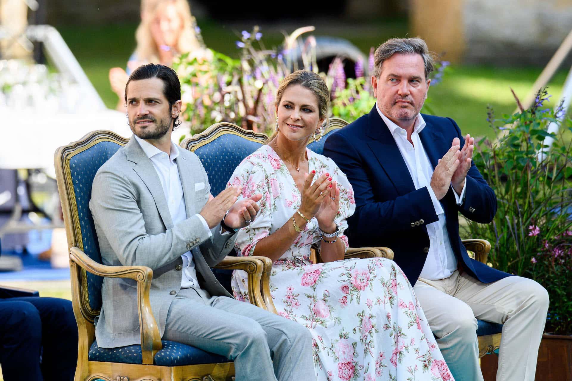 Prinz Carl Philip. Prinzessin Madeleine und Christopher O'Neill