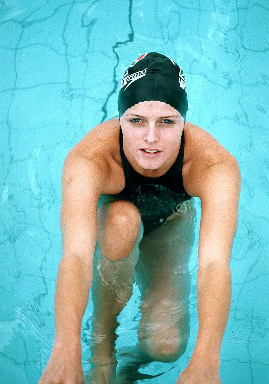 Charlene Wittstock als Schwimmerin