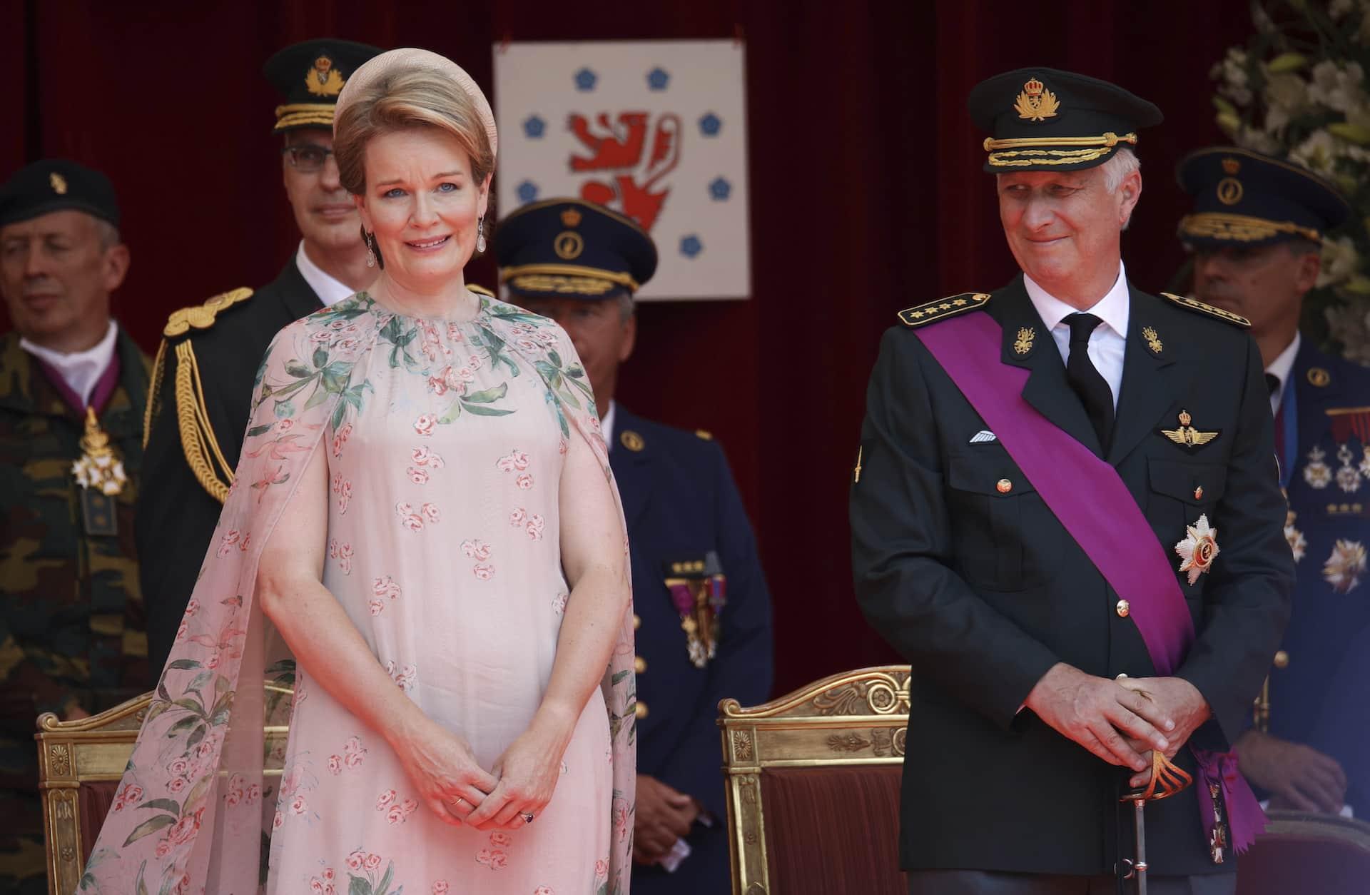 Mathilde und Philippe von Belgien am Nationalfeiertag