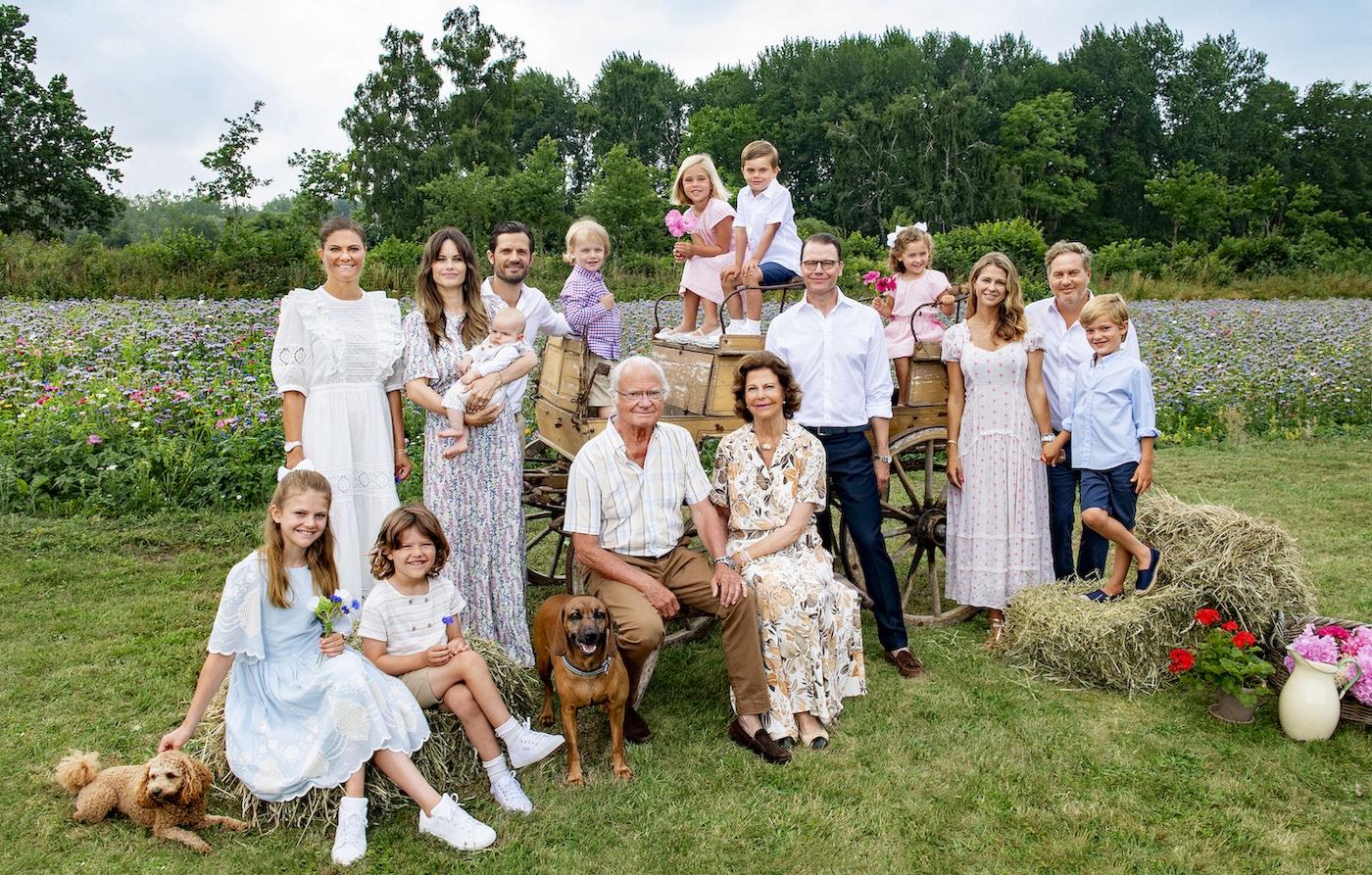 Schwedische Royals neues Familienfoto