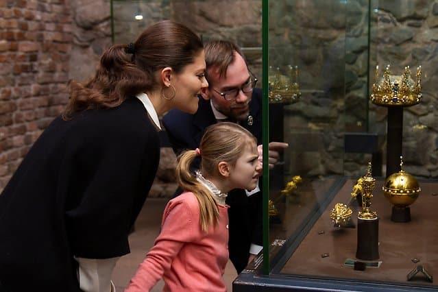 Prinzessin Estelle und Kronprinzessin Victoria im Januar 2018