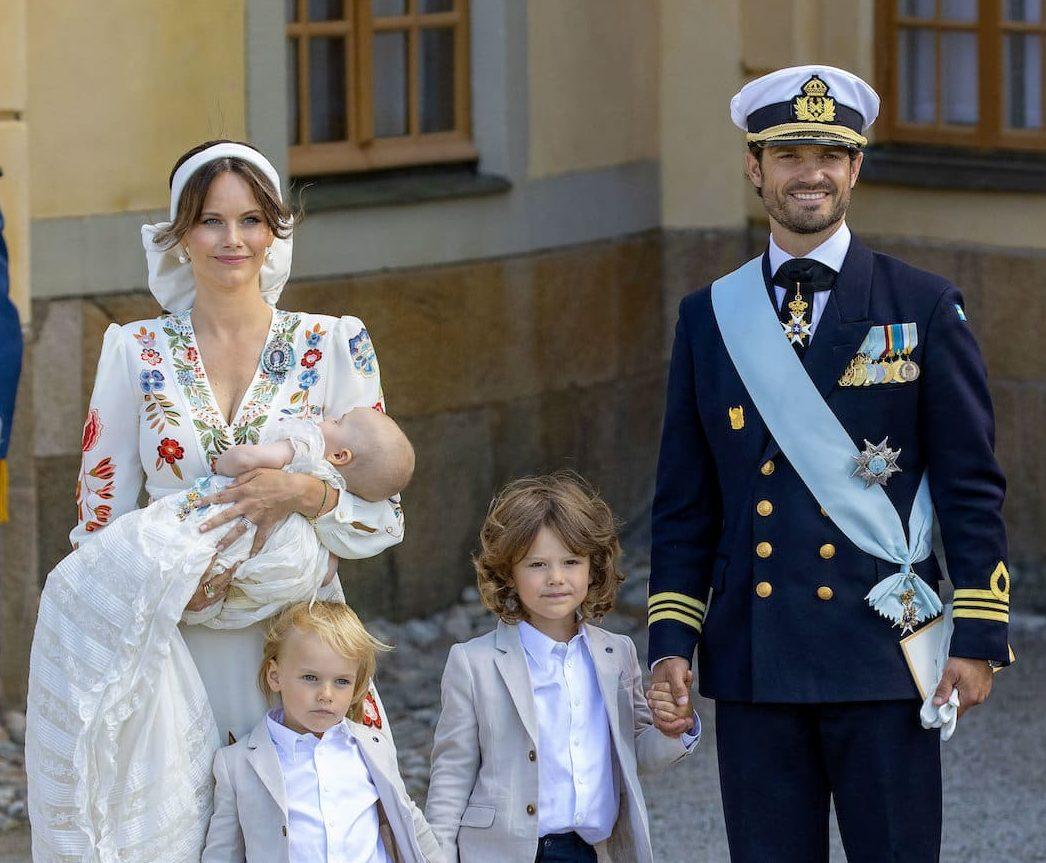 Sofia & Carl Philip von Schweden erinnern bei Taufe an toten Freund