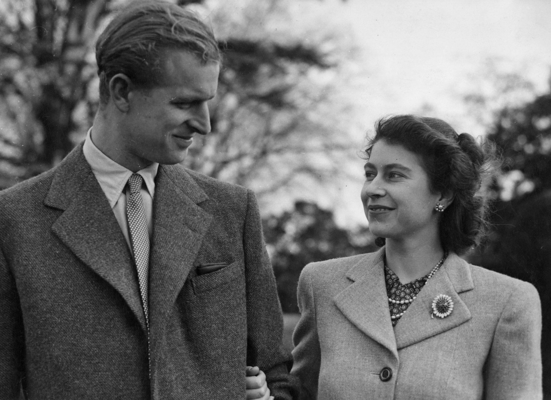 Queen Elizabeth und Prinz Philip in den Flitterwochen