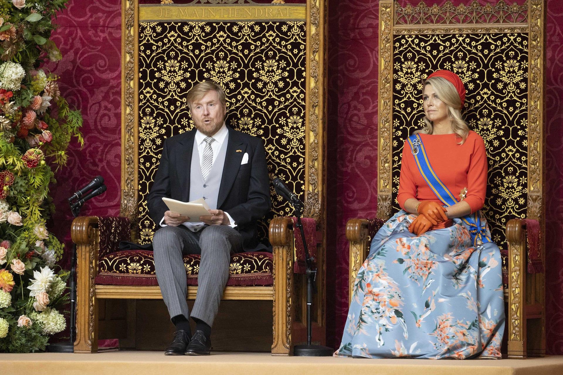 König Willem-Alexander sprach in seiner Rede wichtige Themen im Land an.