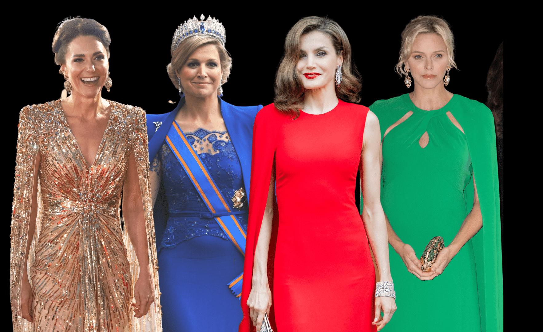 Royals in Cape-Kleidern