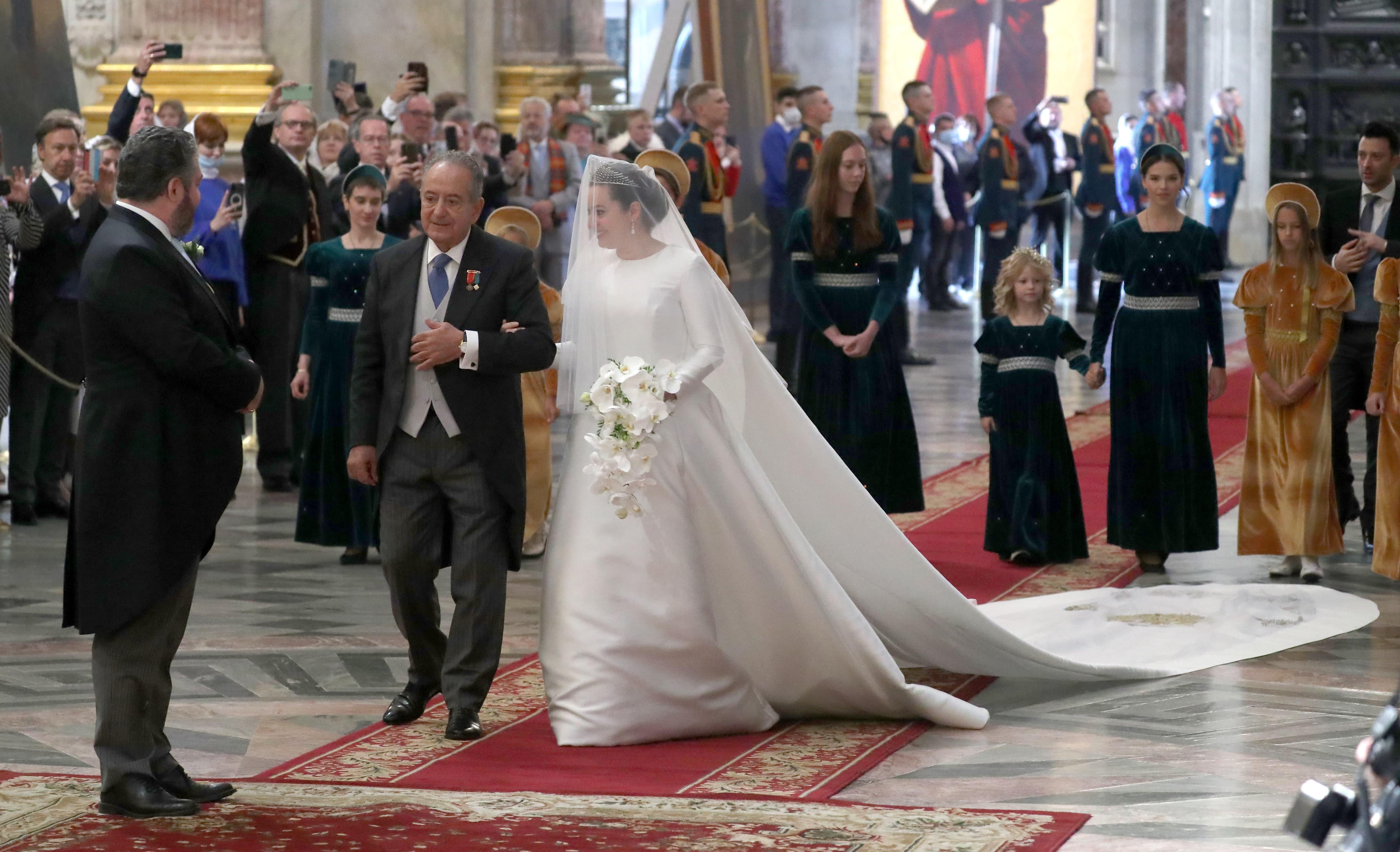 Roberto Bettarini führte seine Tochter zum Altar.